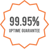 99.95% Uptime Guarantee