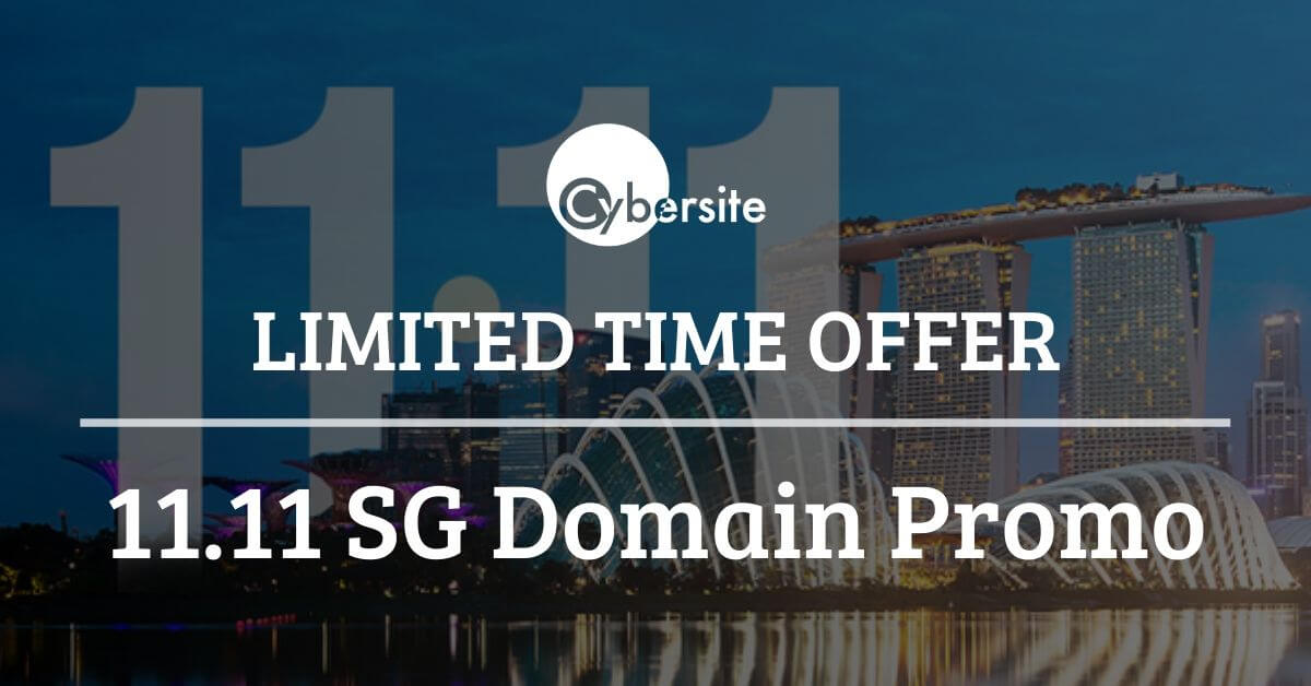 Limited Time Offer, 11.11 SG Domain Promo