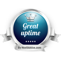 HostAdvice Great Uptime Award for Cybersite